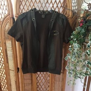 NWOT One-of-a-Kind Short Sleeve Zip Up